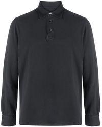 Fedeli Long-sleeved Cotton Jumper - Black