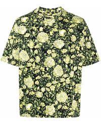 KENZO - Rose-print Organic Cotton T-shirt - Lyst