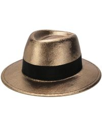 Saint Laurent Metallic Trilby Hat