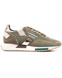 GHŌUD Panelled Leather Sneakers - Green