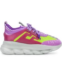 Versace Chunky Panelled Trainers - Purple