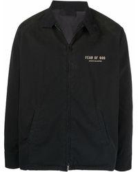 Fear Of God Logo-print Lightweight Jacket - Black
