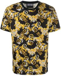 Versace Jeans Couture Barocco Print T-shirt - Black