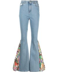 Gcds Extreme-flare Jeans - Blue