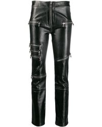 Unravel Project Zipped Skinny Trousers - Black