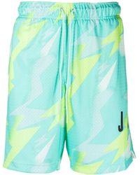 Nike Jordan Jumpman Printed Mesh Shorts - Green