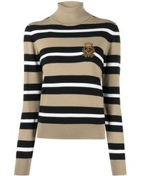 Dolce & Gabbana Logo Crest Patch Knitted Jumper - Multicolour