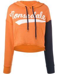 Monse 'dale' Cropped Hoodie - Orange