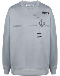 Acne Studios Motf Sweatshirt - Grey