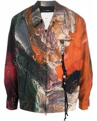 Song For The Mute Marble-print Jacket - Multicolour