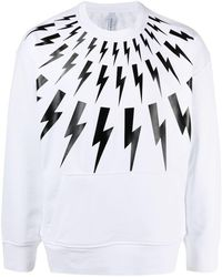 Neil Barrett - Thunderbolt-print Sweatshirt - Lyst