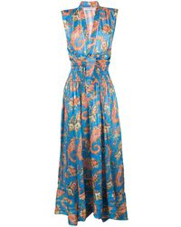 Philosophy Di Lorenzo Serafini Paisley Print Dress - Blue