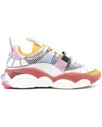 Moschino Chunky Touch-strap Sneakers - White