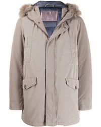 Herno Hooded Parka Coat - Grey