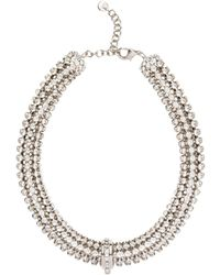 Miu Miu - Crystal Embellished Necklace - Lyst
