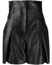 Alberta Ferretti High-waist Matte Shorts - Black