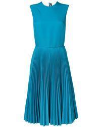 CALVIN KLEIN 205W39NYC Sleeveless Pleated Dress - Blue