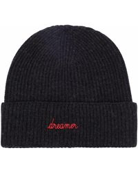 Maison Labiche Dreamer Embroidered Ribbed-knit Beanie - Gray