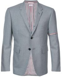 Thom Browne Single Breasted Sport Coat With Red - Grey