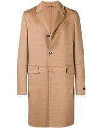 Prada Classic Single-breasted Coat - Natural