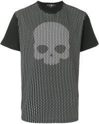 Hydrogen Skull Stars Print T-shirt - Black
