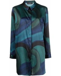 Gianluca Capannolo Colour-block Shirt Dress - Green