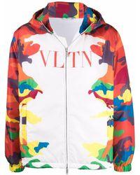 Valentino Camouflage-print Hooded Jacket - White