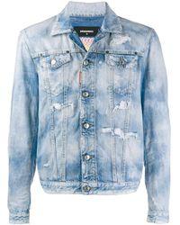 DSquared² Rainbow Denim Jacket - Blue