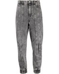 Stella McCartney Acid-wash Tapered Jeans - Grey