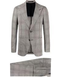 Tagliatore Checked Suit - Gray