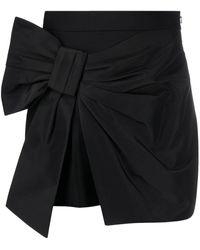 Alexander McQueen High-waisted Bow Skirt - Black