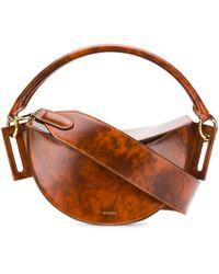Yuzefi Dip Smooth Marble Bag - Brown