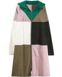 Colville Hooded Patchwork Coat - Multicolour