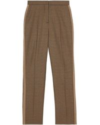 Burberry Houndstooth Check Tailored Trousers - Brown