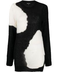 Ann Demeulemeester Monchrome Long-sleeve Jumper - Black