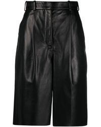 Acne Studios Wide Leg Knee Length Shorts - Black