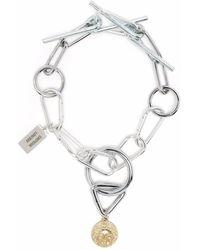 Chopova Lowena Charm-detail Pendant Choker Necklace - Metallic