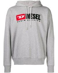 DIESEL Logo Patch Hoodie - Grey