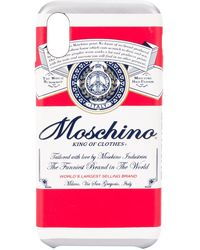 Moschino King Of Clothes Print Iphone Xs/x Case - Red
