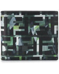 Fendi Camouflage Ff Print Bi-fold Wallet - Black