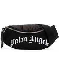 Palm Angels Curved-logo Belt Bag - Black
