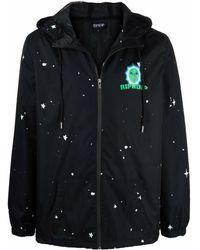 RIPNDIP Starry Logo-print Lightweight Jacket - Black