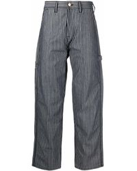 Aries X Lee Carpenter Striped Jeans - Blue