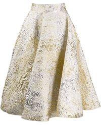 Dolce & Gabbana Jacquard Full Skirt - Metallic