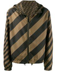 Fendi Reversible Windbreaker Jacket - Green