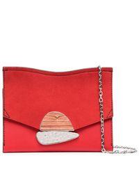 Proenza Schouler Small Curl Chain Clutch - Red