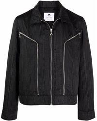 Marine Serre Moire Biker Jacket - Black