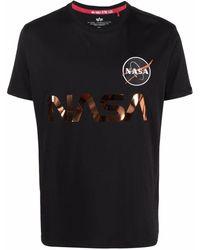 Alpha Industries Nasa Patch Cotton T-shirt - Black