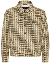 Fendi Ff Motif Denim Jacket - Multicolour