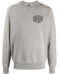 Deus Ex Machina Graphic-print Crew Neck Sweatshirt - Grey